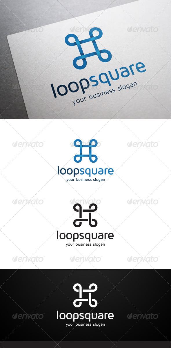 GraphicRiver Loop Square Logo 5668799