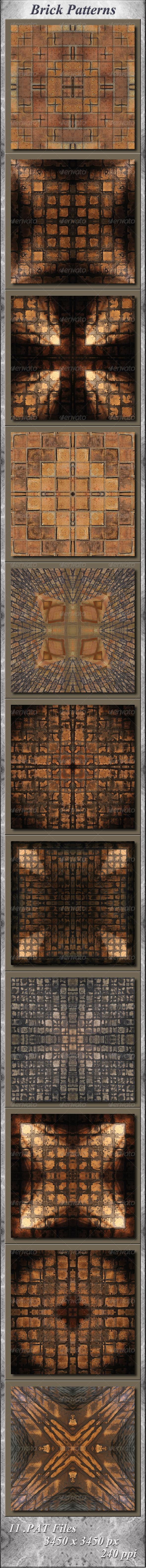 GraphicRiver Brick Patterns 5668813