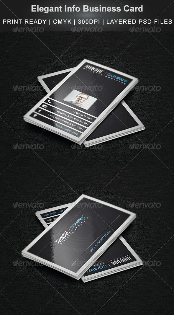 GraphicRiver Elegant Info Business Card 5668814