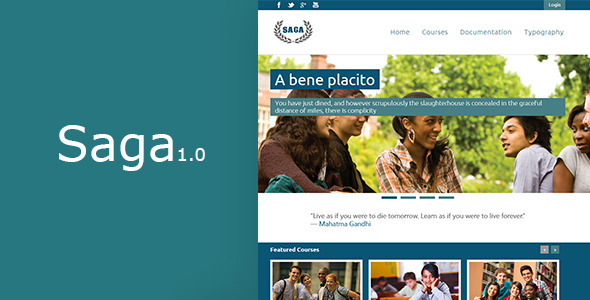 ThemeForest Saga Moodle Theme 5669197