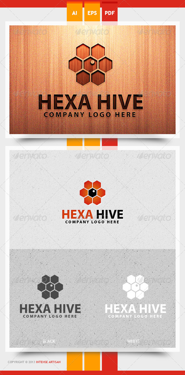 GraphicRiver Hexa Hive Logo Template 5669497
