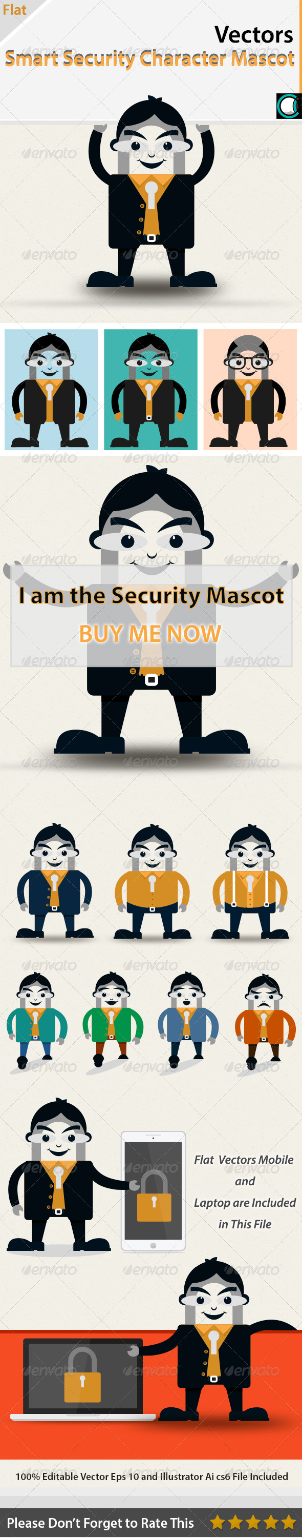 GraphicRiver Smart Security Character Mascot 5669506