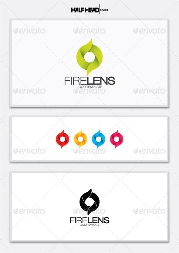 Fire Lens Logo Template