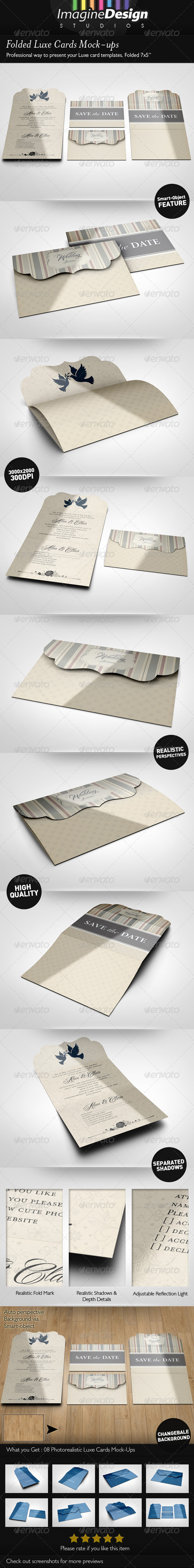 Folded Luxe Cards Mock-ups - Miscellaneous Print
