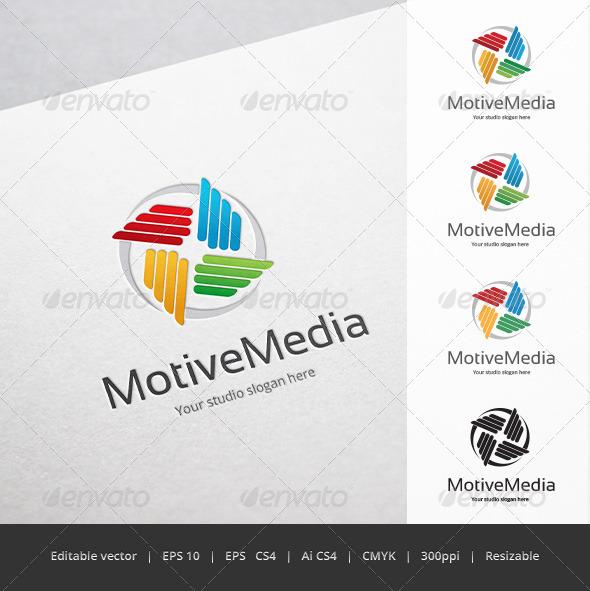 GraphicRiver Motive Media Logo 5670350