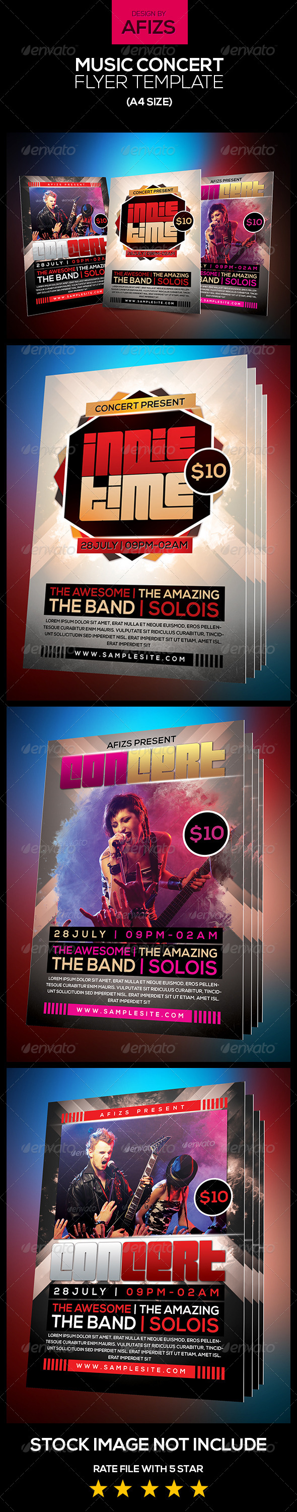 GraphicRiver Music Concert Flyer Template 5670548