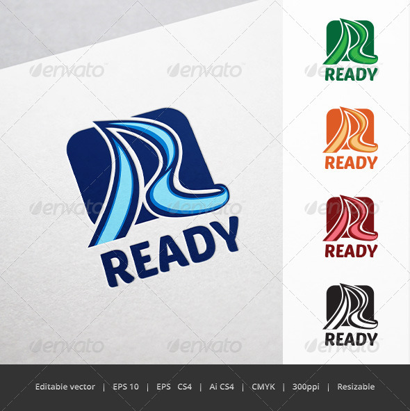 GraphicRiver Ready R Letter Logo 5671091