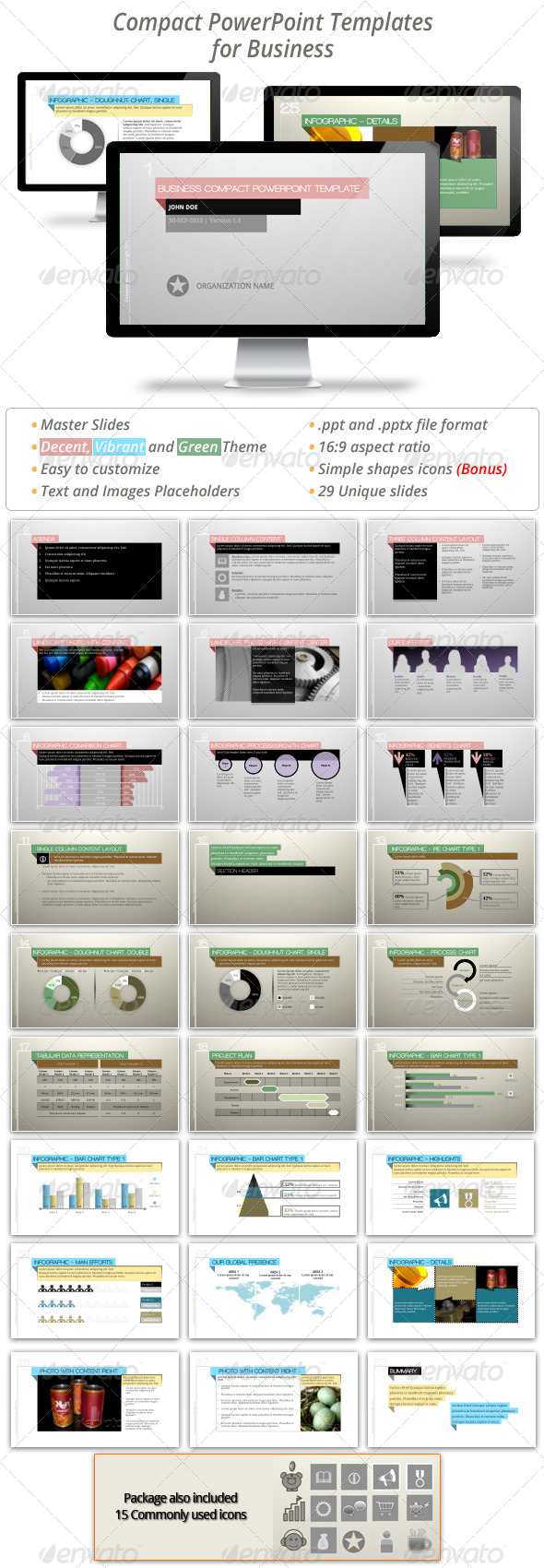 GraphicRiver Compact Powerpoint Templates 5671482