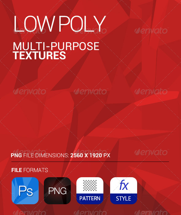 GraphicRiver Multi Purpose Low Poly Texture PSD and PNG 5600148