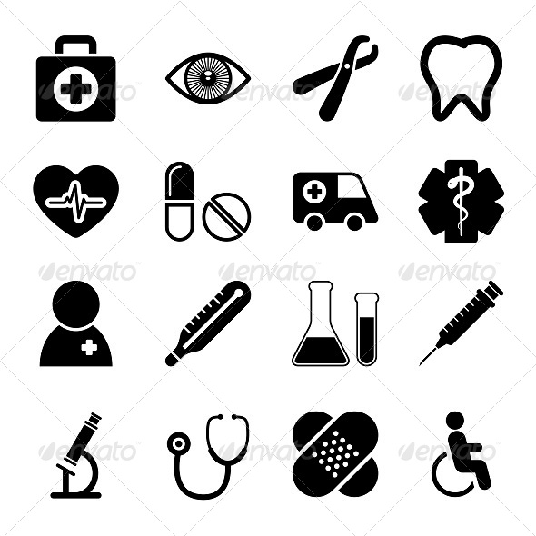 GraphicRiver Medical Icons Set 5672230