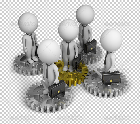 GraphicRiver 3D Small People Business Team 5672455