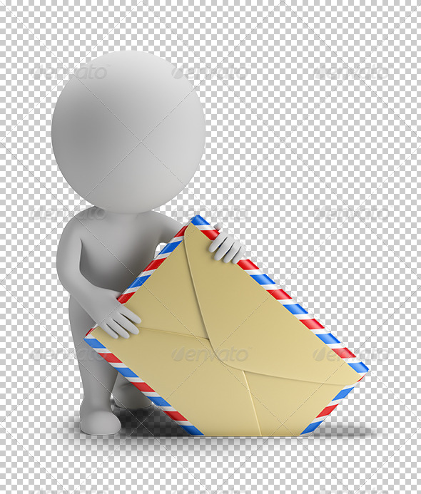GraphicRiver 3D Small People Send Mail 5672555