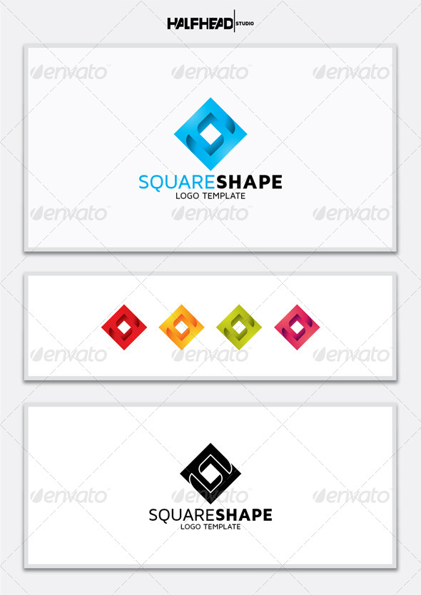 GraphicRiver Square Shape Logo Template 5672569