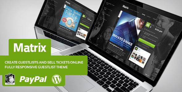 Descarga Matrix - Lista de Invitados para eventos - Theme WordPress