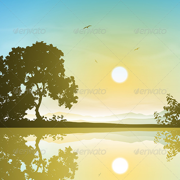 GraphicRiver Landscape with Reflection 5672636