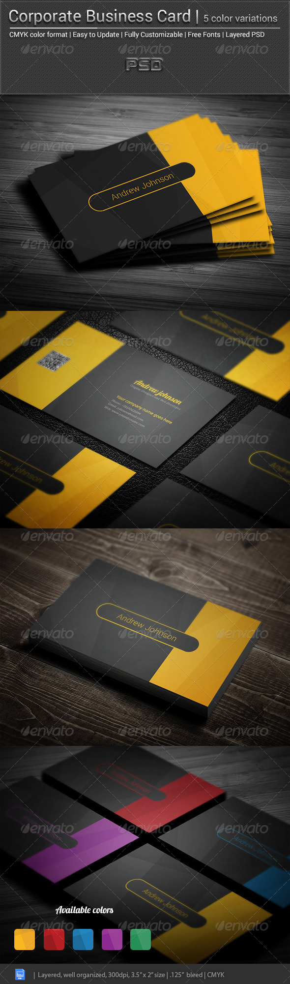 GraphicRiver Corporate Business Card Elegant 5672682