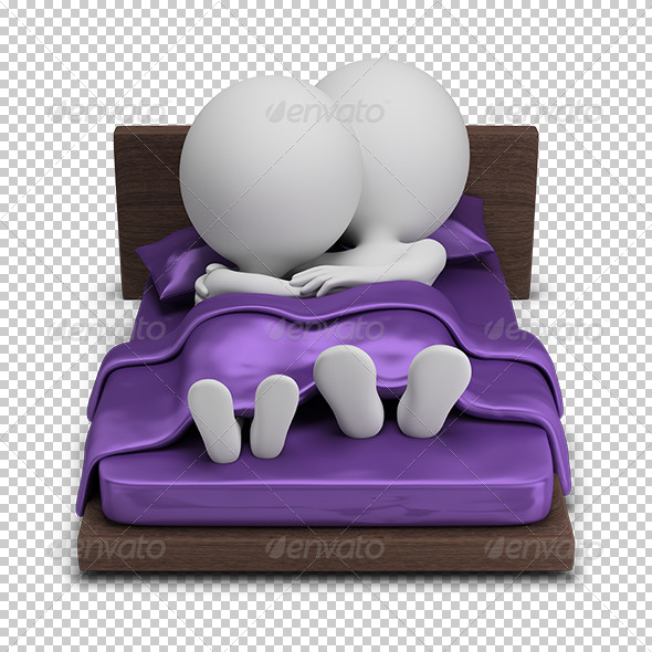 GraphicRiver 3D Small People Couple in Bed 5672818