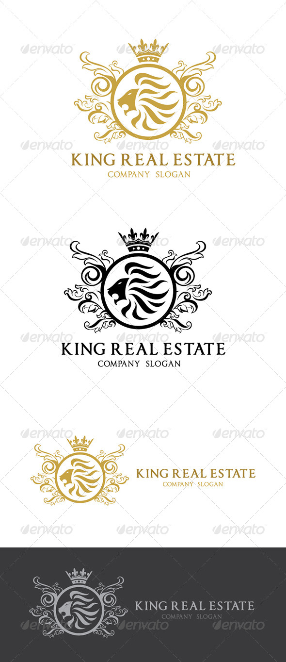 GraphicRiver King Real Estate Logo V1 5672824
