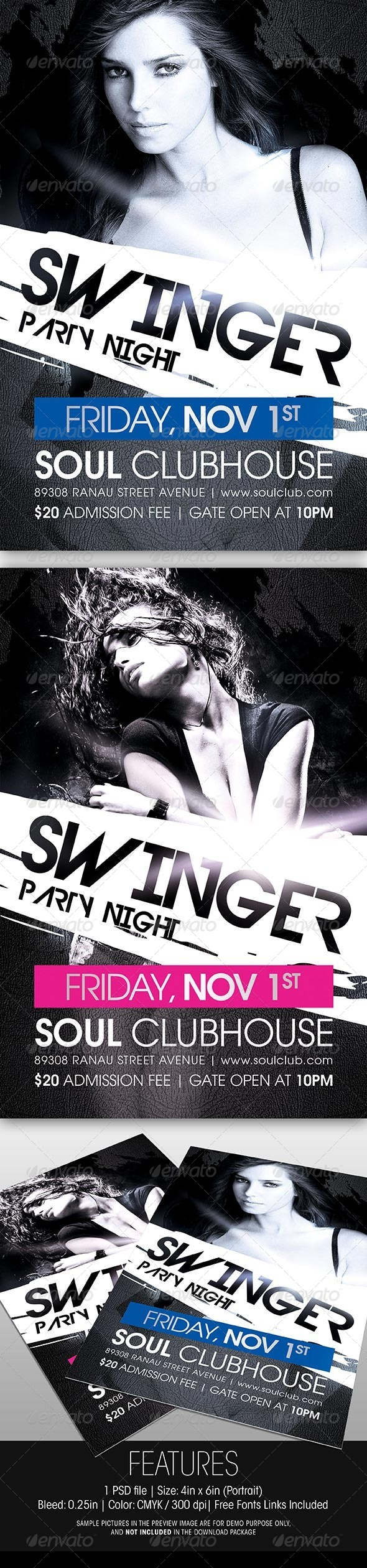 GraphicRiver Swinger Party Flyer 5672848