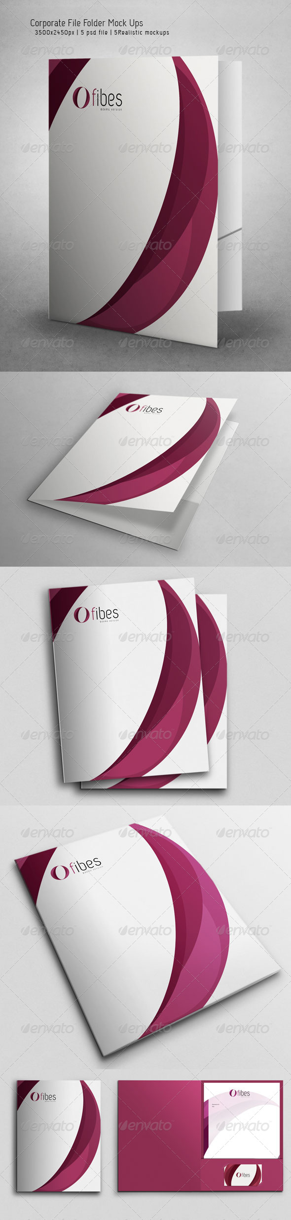 Corporate File Folder Mock Ups - Miscellaneous Print