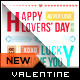 Valentine's Day Typography Greeting Card  - GraphicRiver Item for Sale