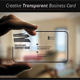Creative Transparent Business Card - GraphicRiver Item for Sale