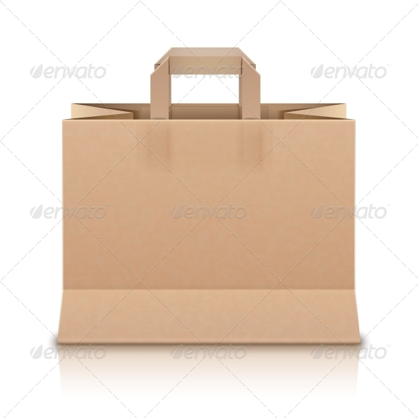 GraphicRiver Realistic Beige Paper Shopping Bag 5673622