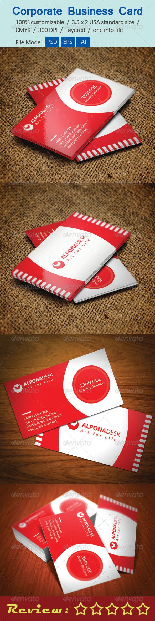 GraphicRiver Corporate Business Card V-7 5673805