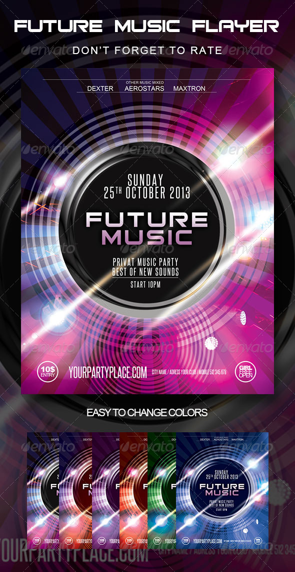 GraphicRiver Future Music Party Flyer 5673949
