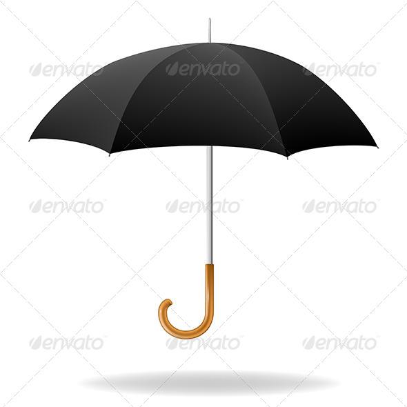GraphicRiver Realistic Black Umbrella 5673950