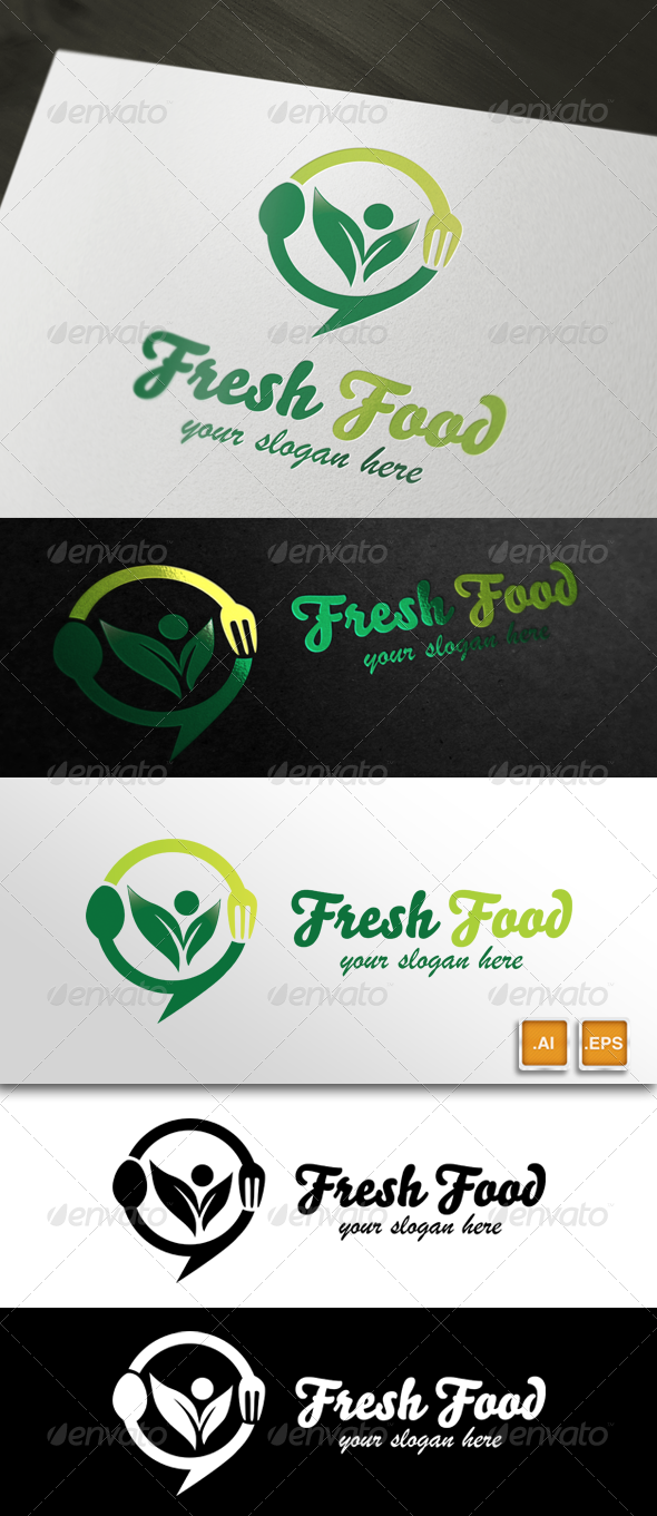 GraphicRiver Fresh Food Restaurant & Food Logo 5674387