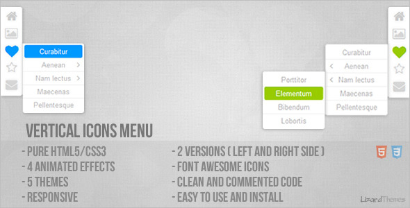 CodeCanyon Vertical Icons Menu 5674708
