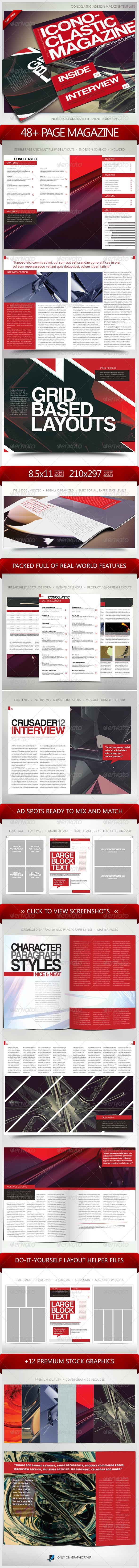 GraphicRiver Iconoclastic 48& Page Magazine Template 5582246
