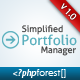 Simplified Portfolio Manager - CodeCanyon Item for Sale