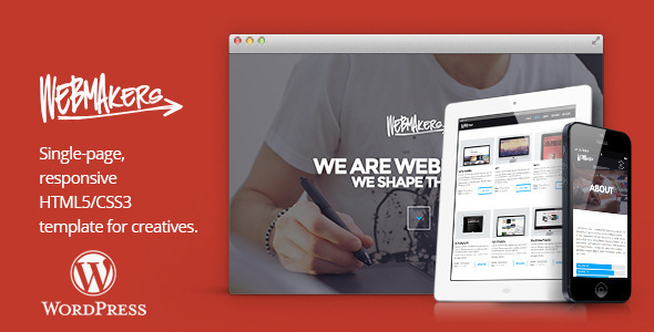 Webmakers - one page WordPress Theme