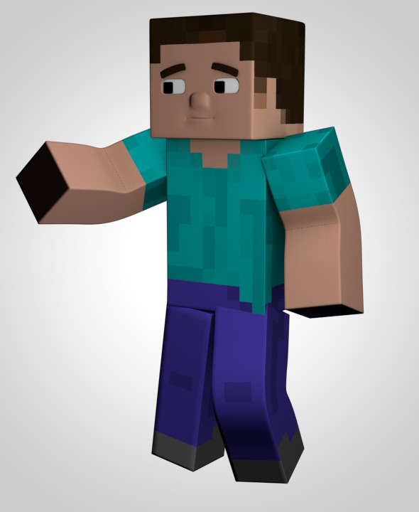 Minecraft Character Model - 3DOcean Item for Sale