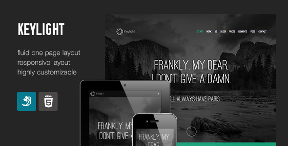 ThemeForest Keylight Light & Flat Portfolio 5674957