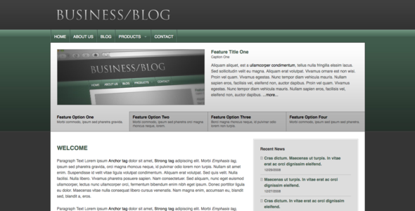 ThemeForest Business Blog 25344