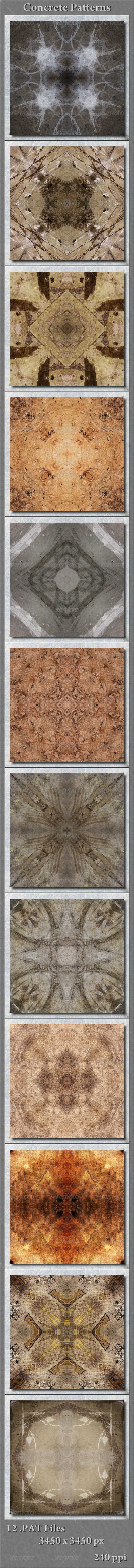 GraphicRiver Concrete Patterns Pkg1 5675404
