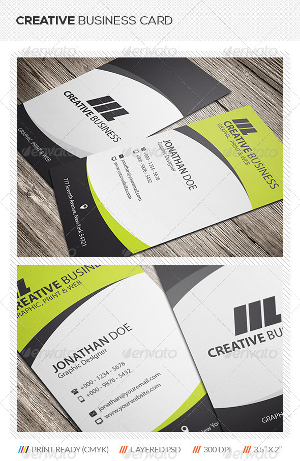 GraphicRiver Creative Corporate Business Card 5675413