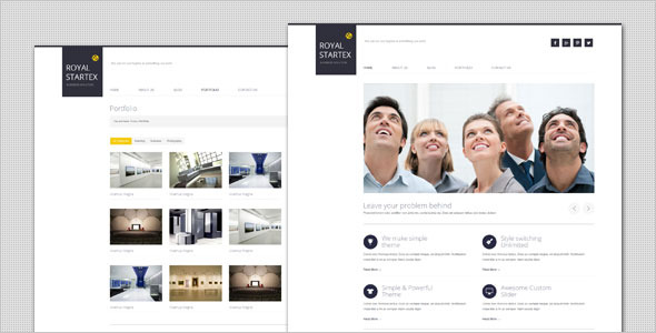 RoyalStartex - Minimalist Business HTML Template