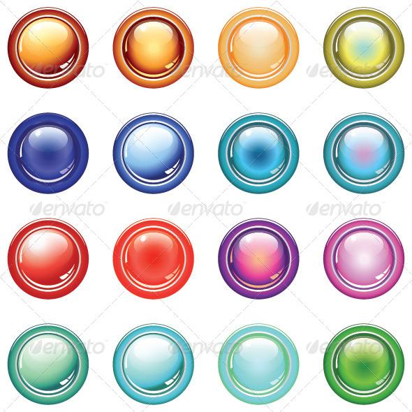 GraphicRiver 16 Glassy Button 5675894