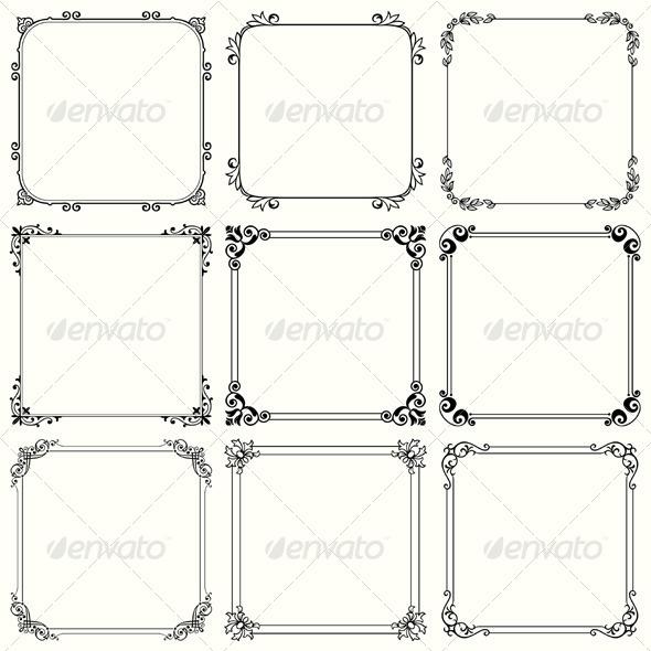 GraphicRiver Decorative Frames 5596553