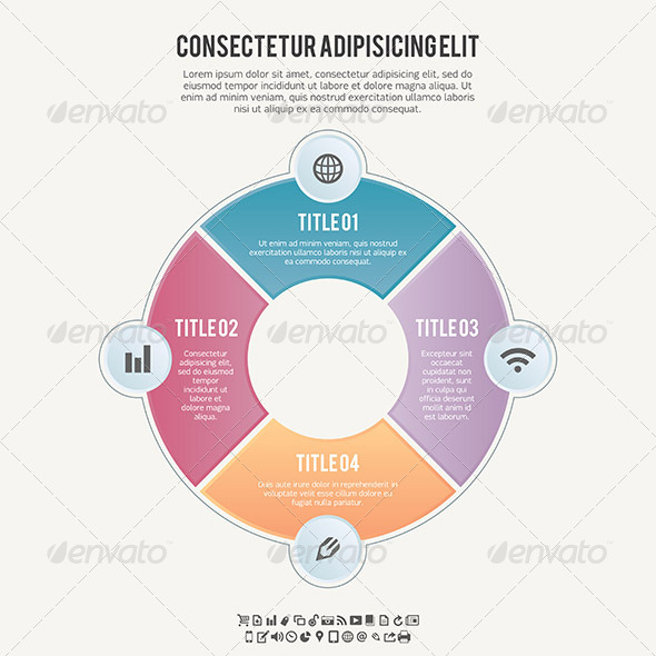 GraphicRiver Four Part Circle Banner Background 5676247