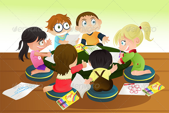 GraphicRiver Children Drawing 5676294