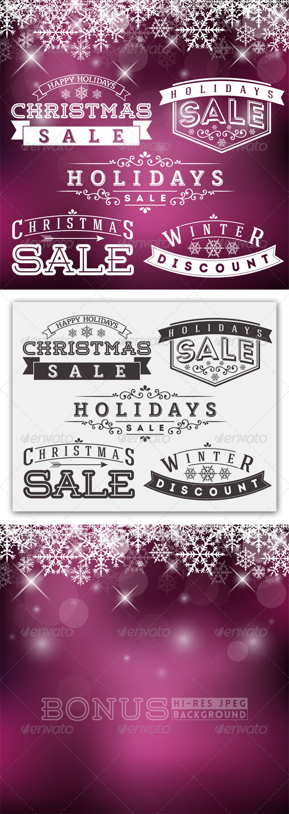 GraphicRiver Holidays Sale Labels 5676480