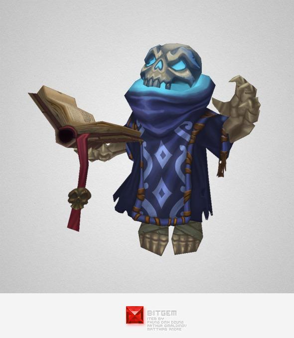 3DOcean Low Poly Skeleton Mage 5676734