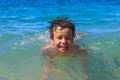 Happy young boy diver swims in the sea - PhotoDune Item for Sale