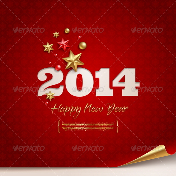 GraphicRiver Vector Holidays Design 2014 New Year Greetings 5677169