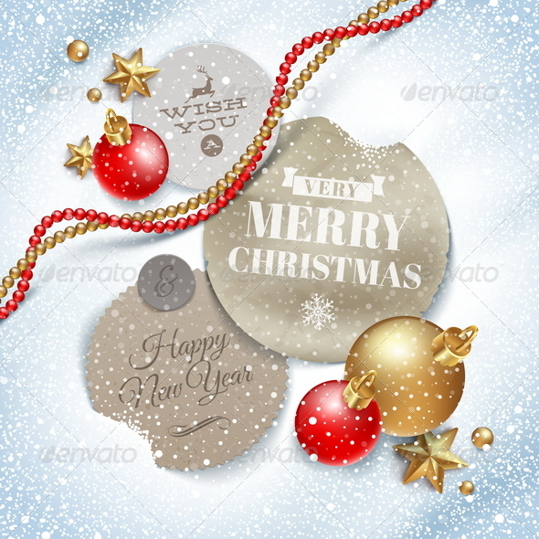 GraphicRiver Cardboard Labels with Christmas Greetings 5677524